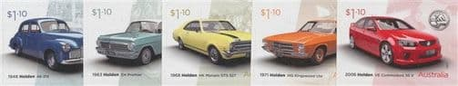AUS 22/03/2021 Holden: Australian Icon self-adhesive set of 5 from booklets (exSB737-41)